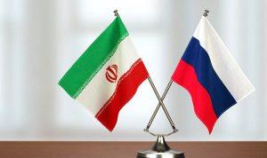 Iran 7& Russia flags