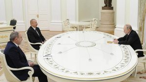 Pashinyan, Putin, Aliev