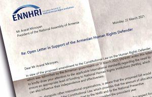 ENNHRI Letter of Support Armenian HRD