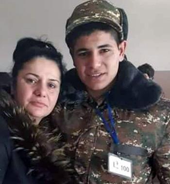 Karen Hovsepyan with mother