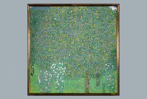 """Gustav Klimt's """"Rosiers sous les arbres"""" (""""Roses Under the Trees"""")"""