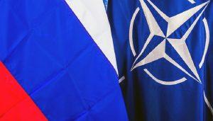 NATO Russia flags