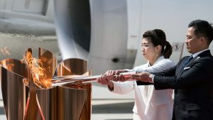 olympic flame Tokyo 2021