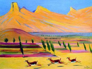 """Martiros Saryan """"Gazelles"""", 1926"""