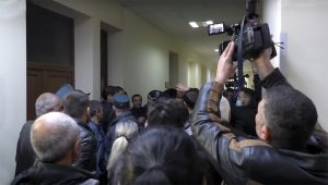 POWs' relatives protest in Gyumri