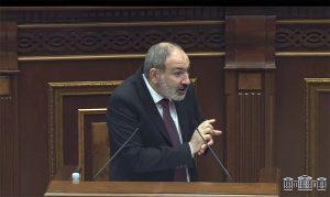 Nikol Pashinyan in parliament