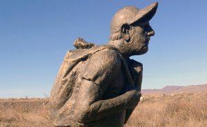 monument to Nikol Pashinyan near ijevan