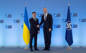 President Volodymyr Zelensky with NATO Secretary-General Jens Stoltenberg