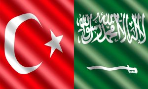 Turkey & Saudi Arabia flags