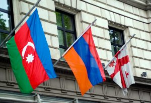 Armenia, Georgia, azerbaijan flags
