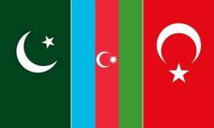 Azerbaijan, Pakistan, Turkey flags