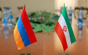 Iran & Armenia flags