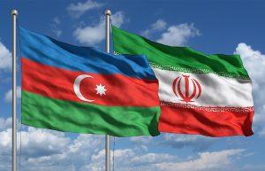 Iran & Azerbaijan flags