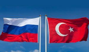 Russia & Turkey flags
