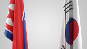 Seoul Pyongyang flags