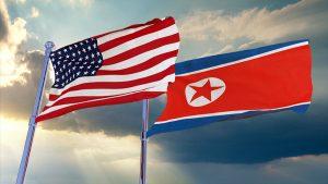 US & N. Korea flags