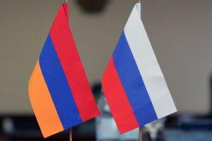 Armenia & Russia flags