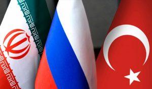 Iran Turkey Russia flags