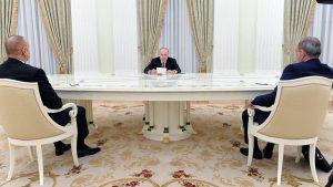Putin, Pashinyan, Aliyev