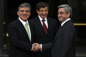 RA President Serzh Sargsyan and President of Turkey Abdullah Gul