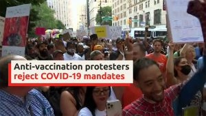 Anti-vaccination protesters NYC