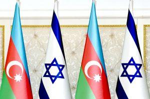 Israel Azerbaijan flags