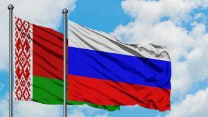 Russia & Belarus flags