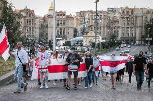 Kiev protest Belarus embassy