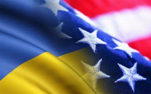 US & Ukraine flags