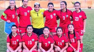 Afghan women footballers
