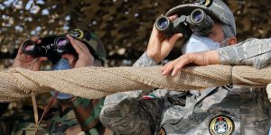 Iran military training