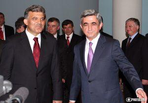 Serzh Sargsyan & President of Turkey Abdullah Gul