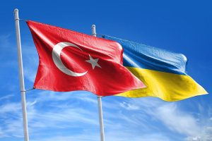 Turkey & Ukraine flags