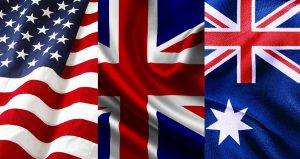 US, England, Australia flags