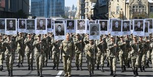 Procession of the military in Baku