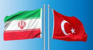 Iran & Turkey flags